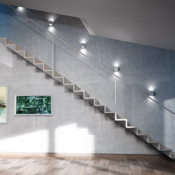 Oświetlenie Schodów Wewnętrznych Dom Nowoczesny