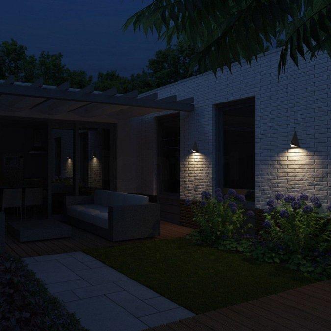 Oświetlenie Zewnętrzne Domu Z Czujnikiem Ruchu Dom Nowoczesny
