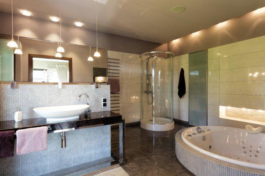 Nowoczesne Oświetlenie łazienki Dom Nowoczesny